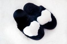 Арт 420 - Тапочки с белым сердечком